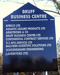 Bruff Business Centre sign